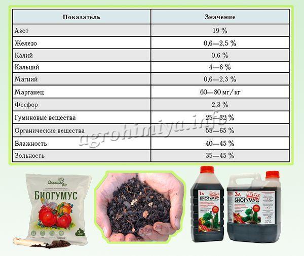Химический состав биогумуса