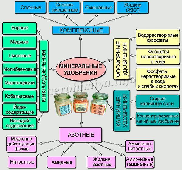 Схема комплексных удобрений
