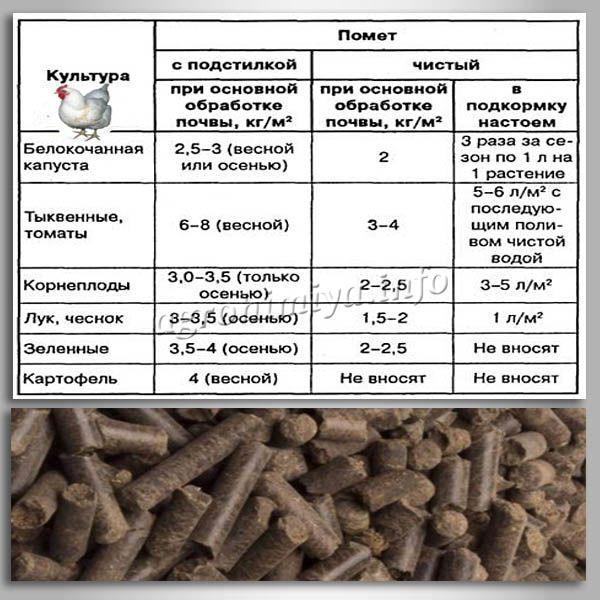 Нормы внесения помета для овощей