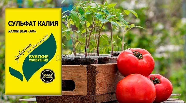 Удобрение Сульфат Калия для томатов