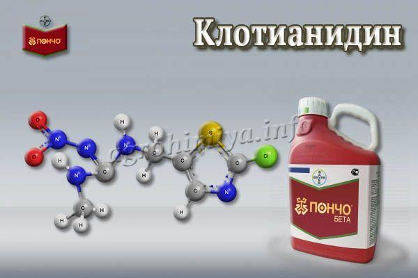 Главный действующий компонент – клотианидин (600 г на л)