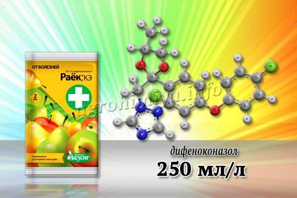 Главное действующее вещество препарата – дифеноконазол (250 мл/л)